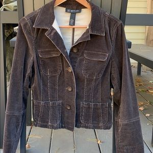 INC corduroy/spandex brown fall jacket M